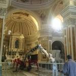 lavori all'interno di una chiesa in Padula (SA)